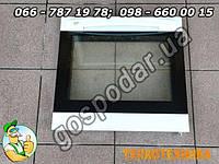 Дверца духовки плиты Amica 49,5 х 47,5 см, запчасти к газовой плите Амика двери духовки