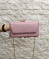 Женская сумка-клатч Baellerry на цепочке светло-розовая