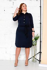 Платье-рубашка женская 50-56 р ( синий, красный )