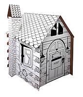 """Картонный домик-раскраска """"Коттедж"""" (сборной развивающий конструктор-раскраска для детей)"""