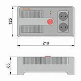 Стабилизатор напряжения электронный НСТ-1000 на 2 розетки, фото 2