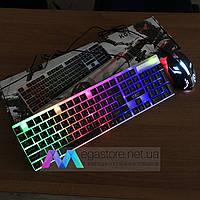 Игровой комплект клавиатура+мышь Combo Gamer K01 для ПК компьютера и ноутбука с подсветкой геймерский комплект