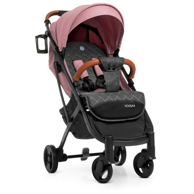 """Дитяча коляска-прогулянка з швидким механізмом складання типу """"книжка"""" El CaminoM 3910 YOGA II Pale Pink, Рожевий"""