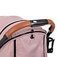 """Дитяча коляска-прогулянка з швидким механізмом складання типу """"книжка"""" El CaminoM 3910 YOGA II Pale Pink, Рожевий, фото 4"""