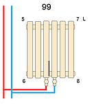 Вертикальний дизайнерський радіатор Praktikum 1 1800/387 Betatherm 8-10 м. кв., фото 6