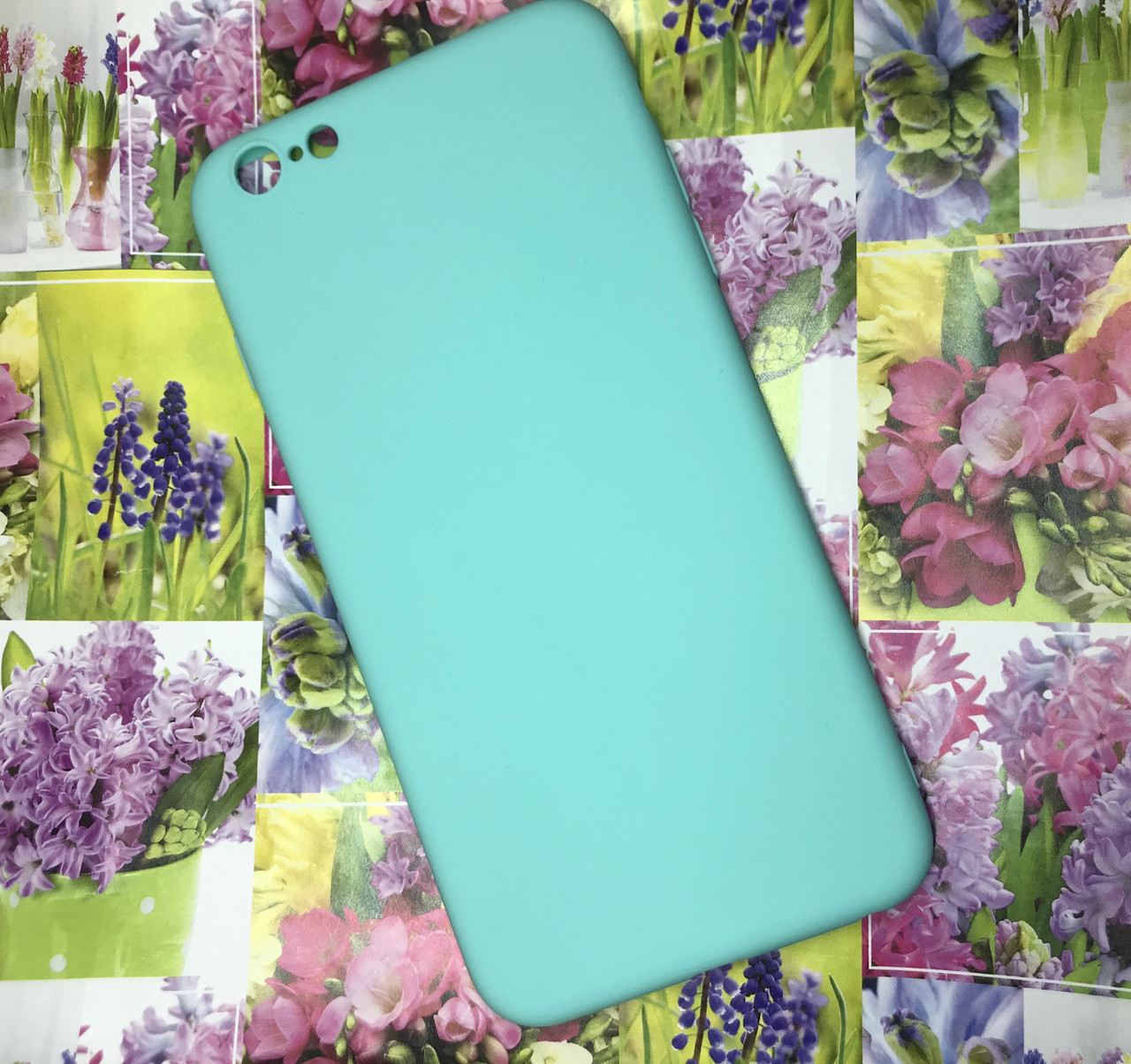 Apple Iphone 6S Plus чехол / бампер / накладка цветной силиконовый матовый мятный ментоловый
