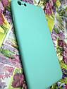 Apple Iphone 6S Plus чехол / бампер / накладка цветной силиконовый матовый мятный ментоловый, фото 2
