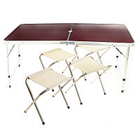 Усиленный стол для пикника с 4 стульями Rainberg (200582)