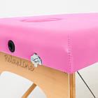 Массажный стол деревянный 2-х сегментный RelaxLine Lagune массажная кушетка для массажа, фото 6
