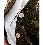 Строгий и милый костюм-двойка с жакетом и юбкой №784СБ-хаки, фото 4