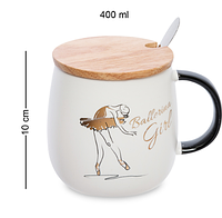 Чашка Балерина 400 мл MUG-296/4. Подарок на 8 марта