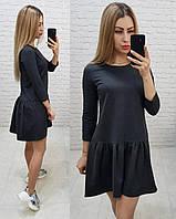 Платье трикотажное , модель 778, черное