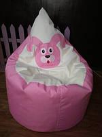 """Безкаркасне крісло-мішок """"Зайчик"""" (розмір Стандарт - 90х70 см). АКЦІЯ -25% до 03.04.20"""