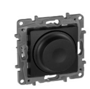 ETIKA Світлорегулятор поворотний 300Вт, колір Антрацит