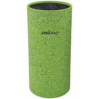 Колода для ножей зелена 11*22см KingHoff (арт. KH-1094)