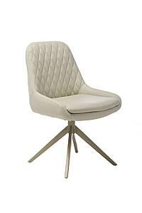 Поворотный стул R-80 светло-серая Vetro Mebel, экокожа