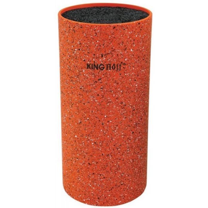 Колода для ножей помаранчева 11*22см KingHoff (арт. KH-1120)