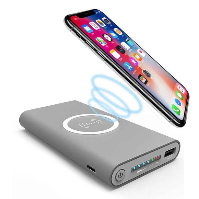 Power Bank Qi-3 10000*mAh Беспроводная зарядка + USB 2.1A(быстрая зарядка)
