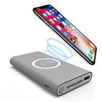 Power Bank Qi-3 10000*mAh Беспроводная зарядка + USB 2.1A(быстрая зарядка), фото 1