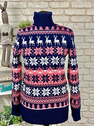 Великолепный женский свитер мягка качественная Вязка с добавлением Полушерсти 50 размер батал, фото 2