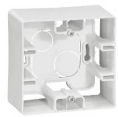 ETIKA Коробка накладного монтажу 1-постова Білий