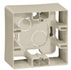 ETIKA Коробка накладного монтажу 1-постова Слонова кістка
