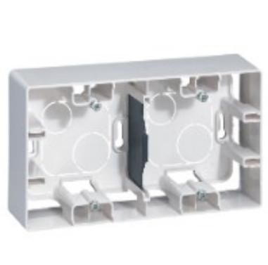 ETIKA Коробка накладного монтажу 2-постова Білий