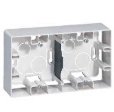 ETIKA Коробка накладного монтажу 2-постова Білий, фото 2