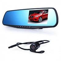 Зеркало видеорегистратор с камерой заднего вида CX DVR-138W Bleak 2 камеры (514568)