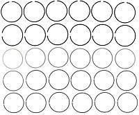 Кольца Поршневые MAHLE 41856CP CHRYSLER 300, 300M, CIRRUS, CONCORDE, GRAND VOYAGER, INTREPID, LHS, SEBRING