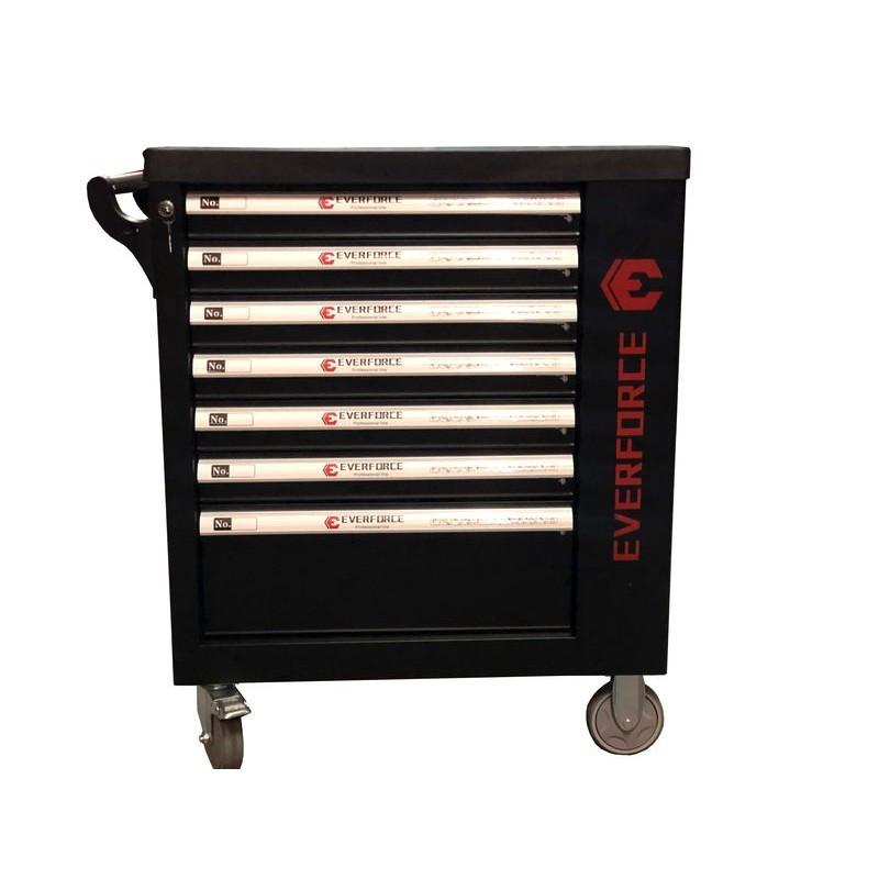 Тележка инструментальная 7 -ми полочная с боковой секцией и набором инструментов 250пр