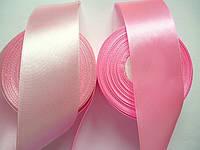 Лента атласная розовая, 5 см