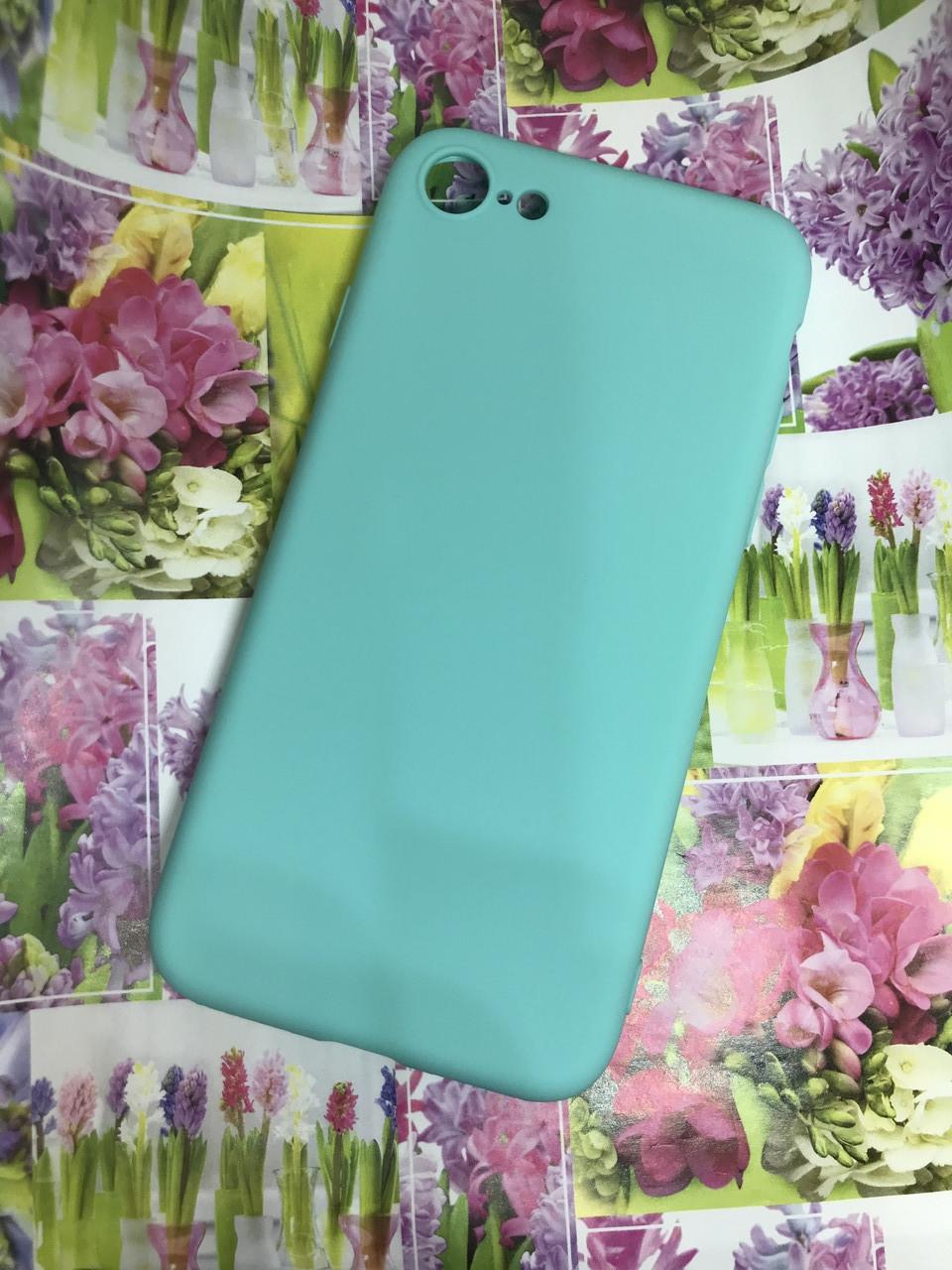 Apple Iphone 7 чехол / бампер / накладка цветной силиконовый матовый мятный ментоловый