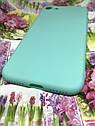 Apple Iphone 7 чехол / бампер / накладка цветной силиконовый матовый мятный ментоловый, фото 2