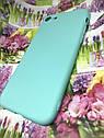 Apple Iphone 7 чехол / бампер / накладка цветной силиконовый матовый мятный ментоловый, фото 3