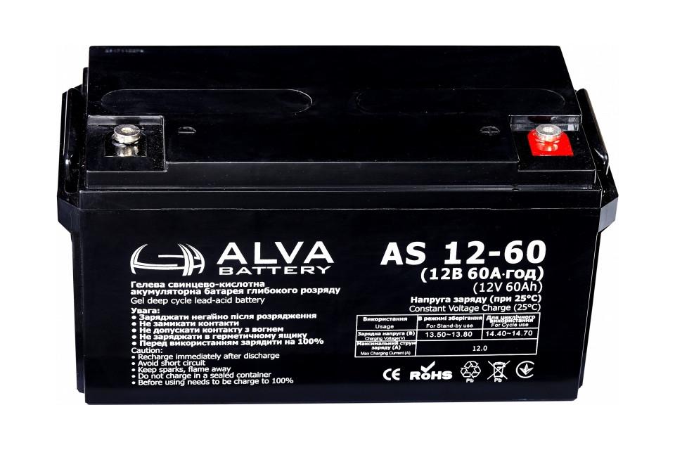 Акумуляторна батарея ALVA Battery AS12-60