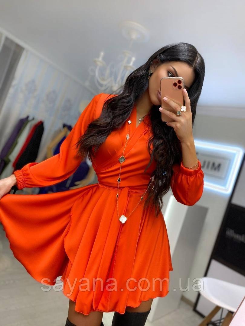 Женское шёлковое платье с пышной юбкой, в расцветках ВФ-1-0120