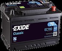 Аккумулятор Exide Classic 70AH/640A (EC700)