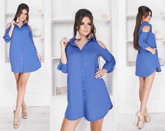 """Сногсшибательное женские платье с кармашками ткань """"Лен"""" размер 42, 44 норма 42, фото 2"""