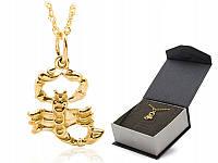Позолоченный кулон в виде знака зодиака – символичный подарок любителю астрологии