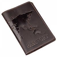 Обложка для паспорта из кожи Shvigel 13954 Коричневый