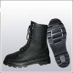 Ботинки (берцы) комбинированные (юфть+кирза) ВФ демисезон ОМОН Бортопрошивные черные, фото 2