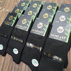 Носки мужские деми SEMPATI бамбук без шва 41-44 размер высокие черные ароматизированные. НМД-0510666