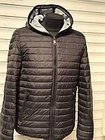 Куртка мужская черная весенняя осенняя с капюшоном