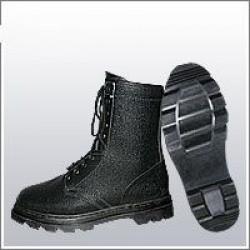 Ботинки (берцы) комбинированные (юфть+кирза) ВФ утепленные (Мех) ОМОН Бортопрошивные черные
