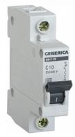 Автоматический выключатель ВА47-29 1Р 10А 4,5кА х-ка С GENERICA MVA20-1-010-C