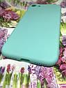 Apple Iphone 8 чехол / бампер / накладка цветной силиконовый матовый мятный ментоловый, фото 2