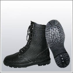 Ботинки (берцы) юфтевые ВФ утепленные (Мех) ОМОН Бортопрошивные черные, фото 2