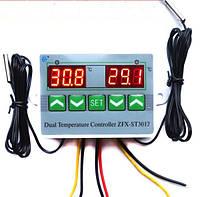 Цифровой  двойной терморегулятор на 220  Вольт реле 1000Вт