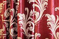 "Двусторонняя ткань блэкаут ""Лилия"". Высота 2,8м. Цвет бордовый с бежевым. 062ш"